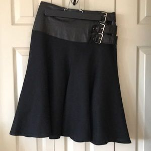 Mackage Linen and Leather Skirt